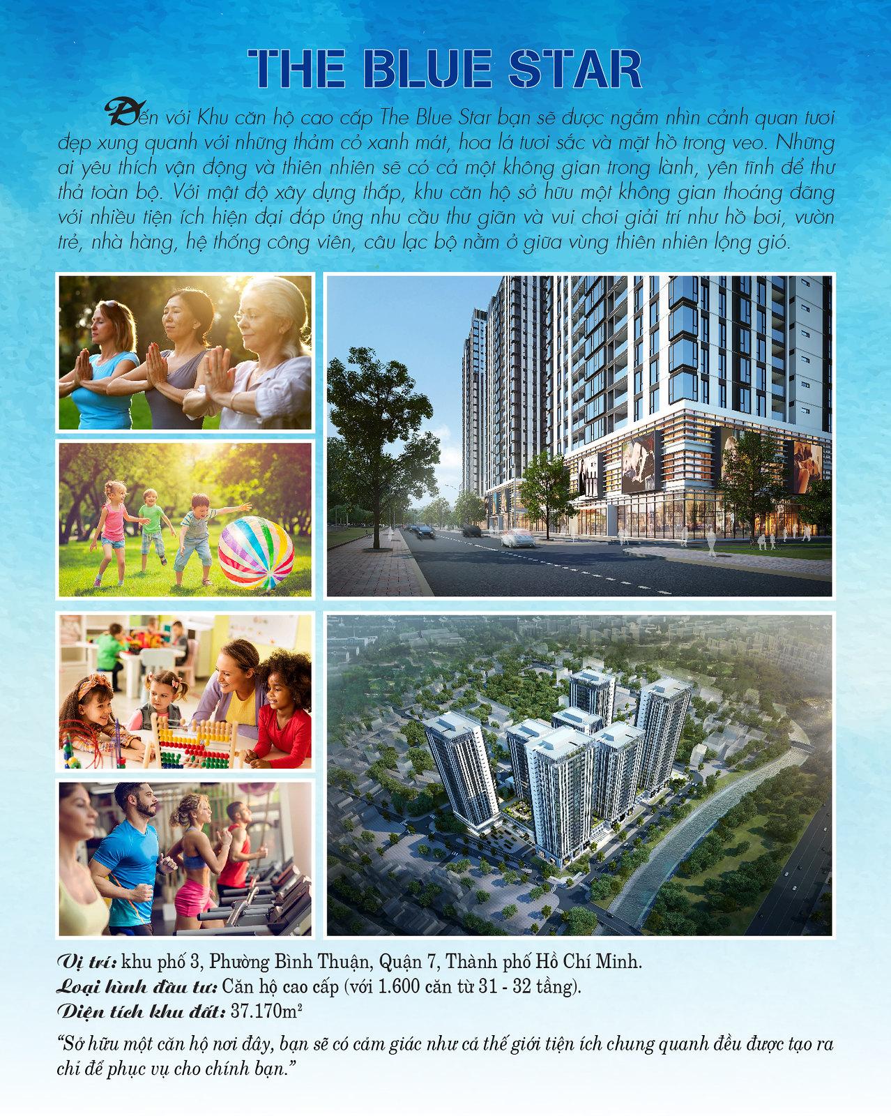 Dự án căn hộ cao cấp Hưng Phát The Blue Star quận 7.