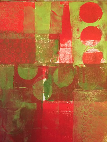 16a Gelli Print Background