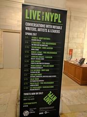 Live at the NYPL banner, NYPL, NYC, NY, USA