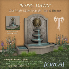 Rising Dawn - Sun Water Fountain - Tan & Bronze