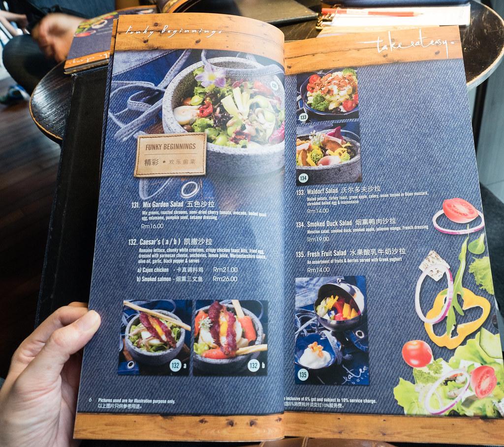 Salad menu of Take Eat Easy Modern Bakery & Cafe at Bandar Menjalara, Kepong