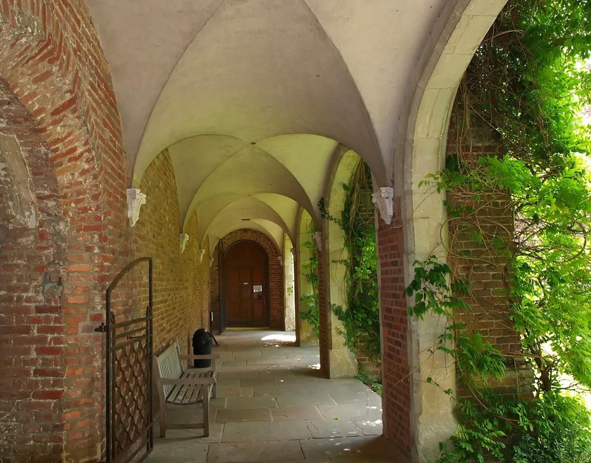 Interior corridor, Herstomonceux Castle. Credit 6mat1