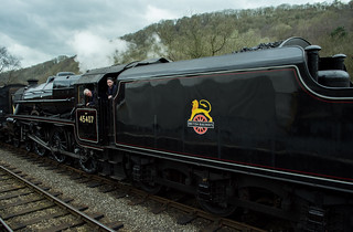 20170330-31_Black Five Engine 5MT 45407 + Train coming in to Levisham Station