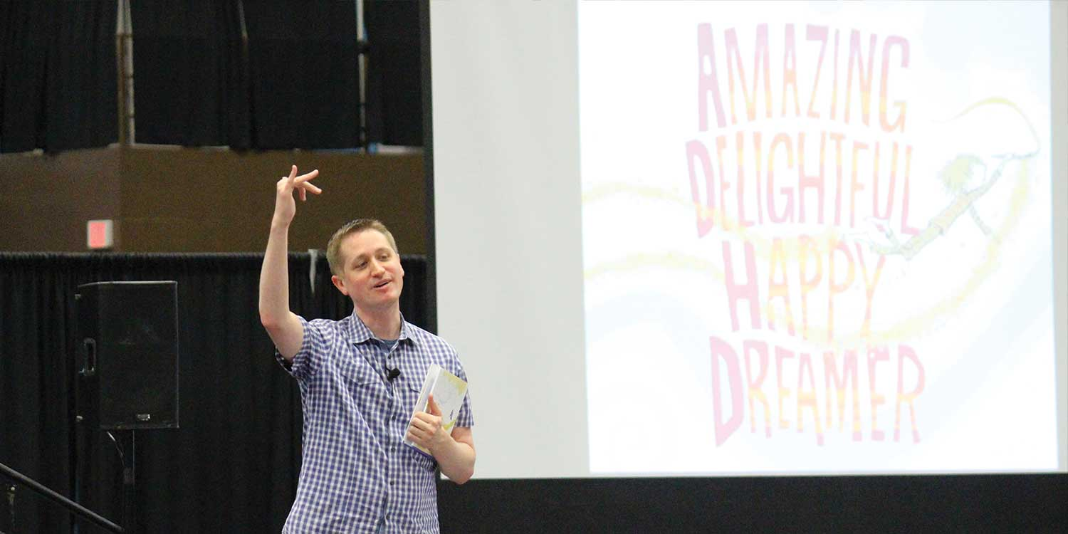 Mr. Schu Shares Copies of Amazing Delightful Happy Dreamer.
