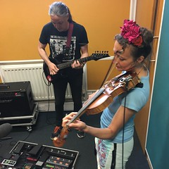Spannerman and Lewis Floyd Henry performing live in session on The deXter Bentley Hello GoodBye Show on Resonance 104.4 FM in Central London on Saturday 20th May 2017