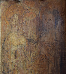 Blessed Virgin and St Elizabeth at the Visitation (15th Century)