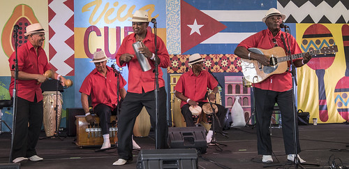 Cuban Cultural Exchange Pavilion - Jazz Fest 2017. Photo by Marc PoKempner.