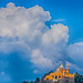Clouds Over The Volcano And Cholula's Church (Cholula, Puebla, Mexico. Gustavo Thomas © 2017) por Gustavo Thomas