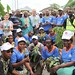 Goma, North Kivu, DR Congo: The Disarmament, Demobilization, Repatriation, Reintegration and Rehabilitation (DDRRR) section of Goma organized a tree-planting exercise for youth and demobilized of the Community Violence Reduction (CVR) project in front of