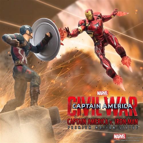 Factory Entertainment 美國隊長3:英雄內戰 【美國隊長v.鋼鐵人】Captain America v. Iron Man 全身雕像作品