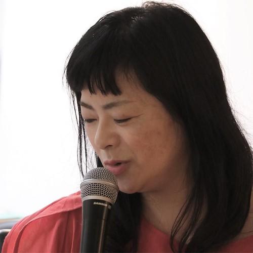 大平一枝さん。 「東京の家族写真ダイアローグ presented by おもいでばこ」にて。