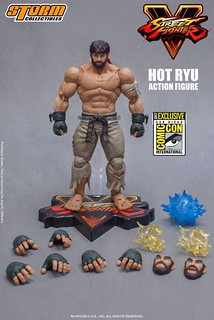 2017 SDCC 會場發售!Storm Collectibles 快打旋風5 系列【隆 戰鬥服限定版】Street Fighter V Hot Ryu 1/12 比例可動人偶作品