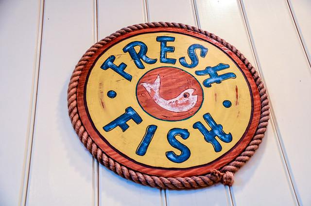 Fresh Fish sign Olivia's