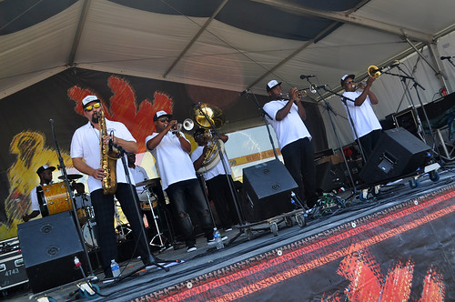 Kinfolk Brass Band on the Jazz & Heritage Stage at Jazz Fest