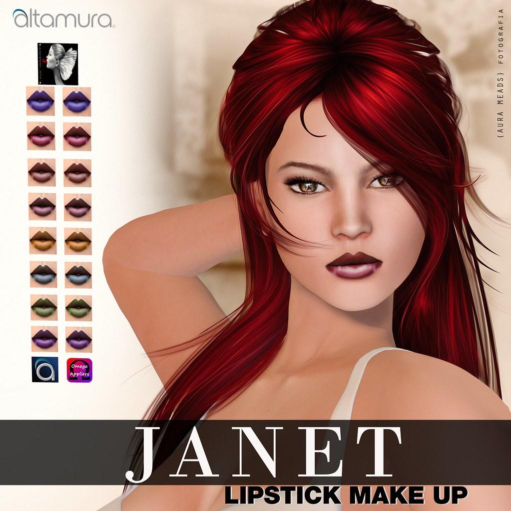 "Altagroup: "" Janet "" Lipstick Make up - SecondLifeHub.com"