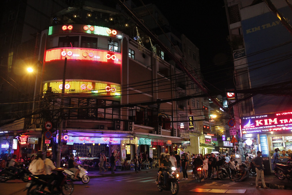 backpackergaden Bui Vien i Ho Chi Min City/Saigon
