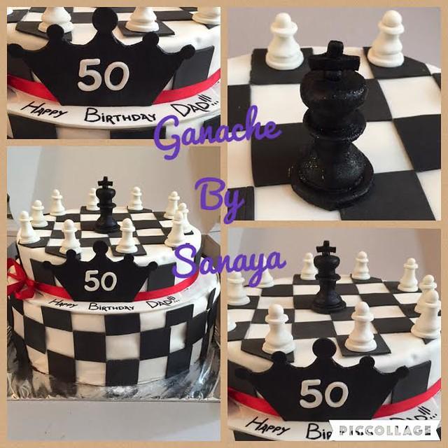Chess Themed Cake by Sanaya Musani of Ganache