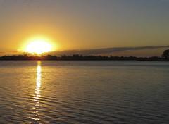 Sunset over lake, Rockhampton Bot Gdns