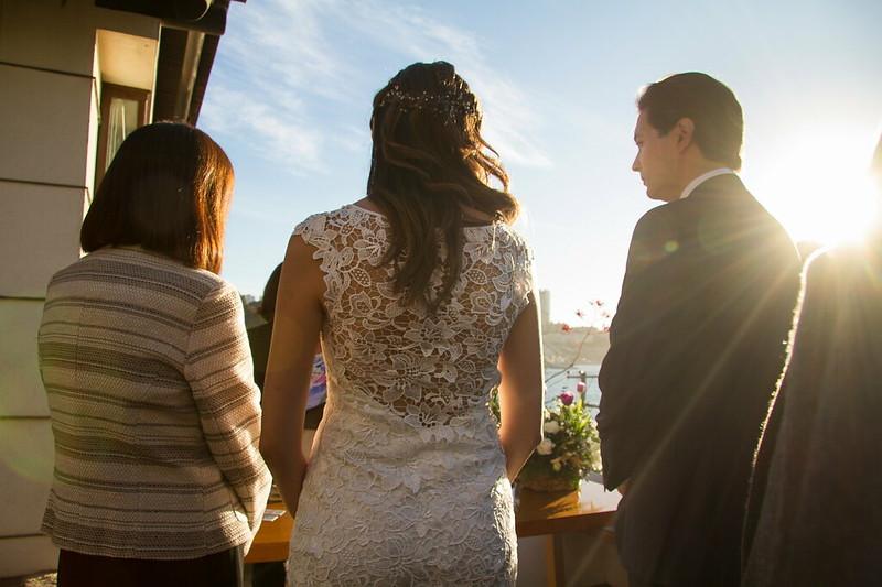 en la ceremonia civil