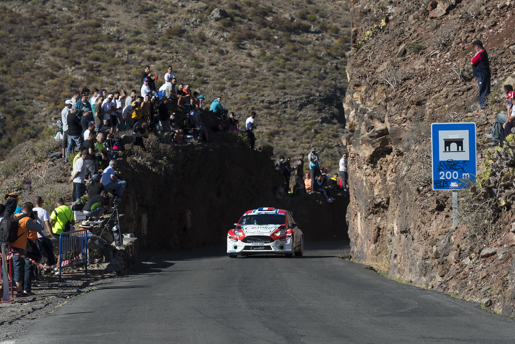 12 BOUFFIER Bryan  (FRA), GIRAUDET Denis (FRA), Fiesta Ford R5,Action during the 2017 European Rally Championship ERC Rally Islas Canarias, El Corte Inglés,  from May 4 to 6, at Las Palmas, Spain - Photo Gregory Lenormand / DPPI