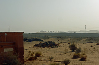 View towards the northern pyramids