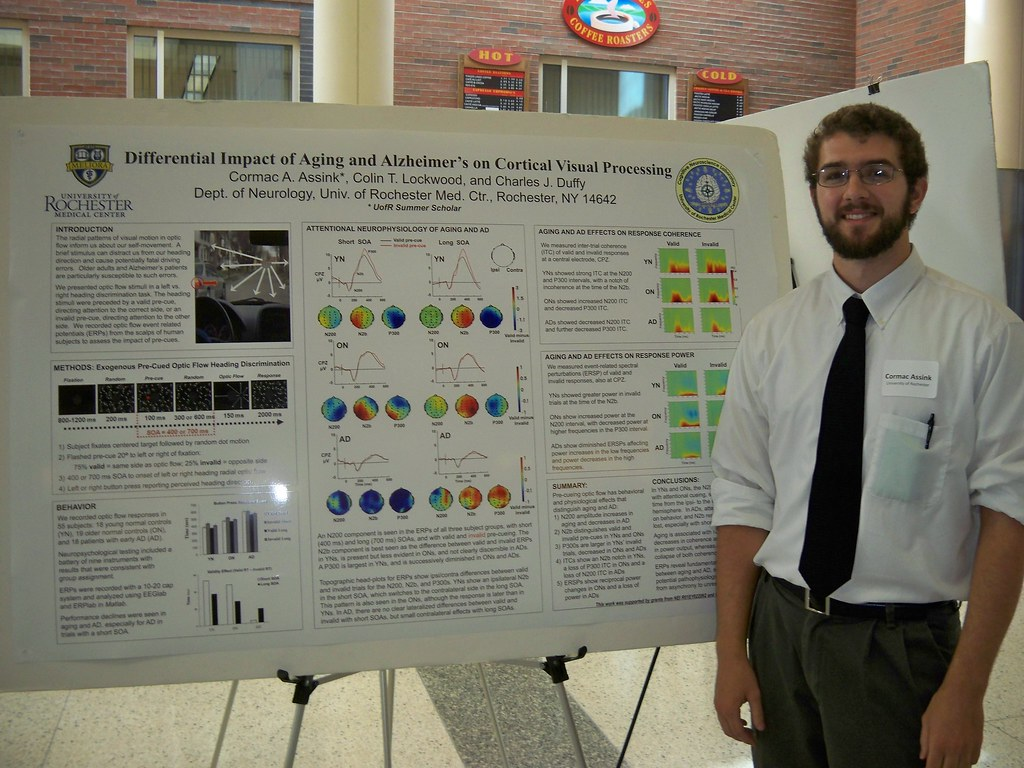 Cormac Assink with poster