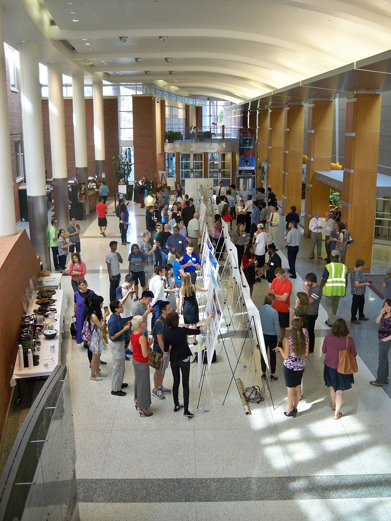 Balcony photo of poster session