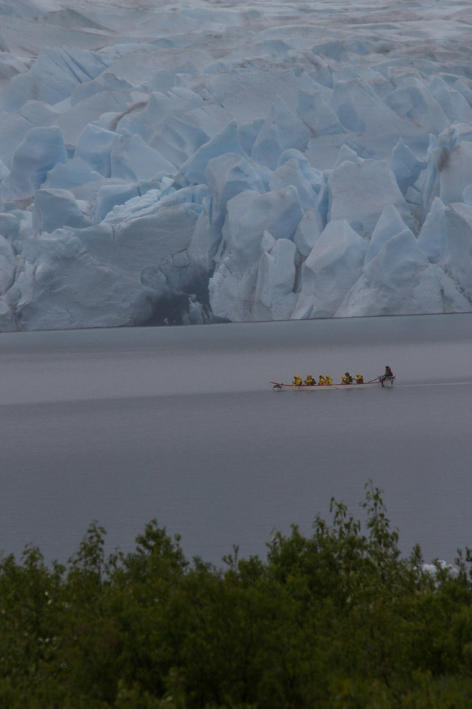 Kayakers at Mendenhall glacier