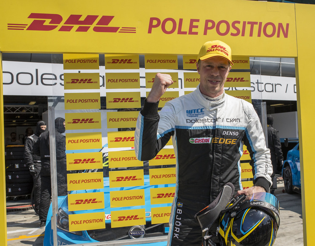 DHL BJORK Thed (swe) Volvo S60 Polestar team Polestar Cyan Racing ambiance portrait during the 2017 ETCC European Touring Car Championship race of Italy at Monza, from April 28 to 30  - Photo Gregory Lenormand / DPPI