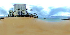 The Outrigger Beach in Waikiki as seen from the front of the Colony Surf Hotel - a 360° Equirectangular VR