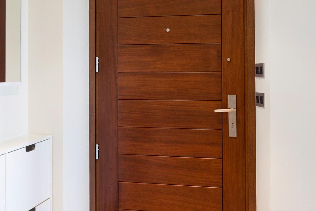 Puerta de diseño moderno