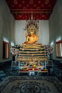 Wat Pho - Buddha Sheltered by the Naga