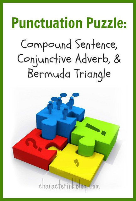 Punctuation Puzzle: Compound Sentence, Conjunctive Adverb, & Bermuda Triangle