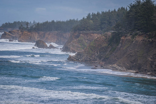 Cape Arago Looking Back To Shore Acres