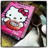 Making cookies with my little sister, @truefishbacon, who is very excited over this #HelloKitty chili mix. #futurememories #baking #food #family #Canby #Oregon