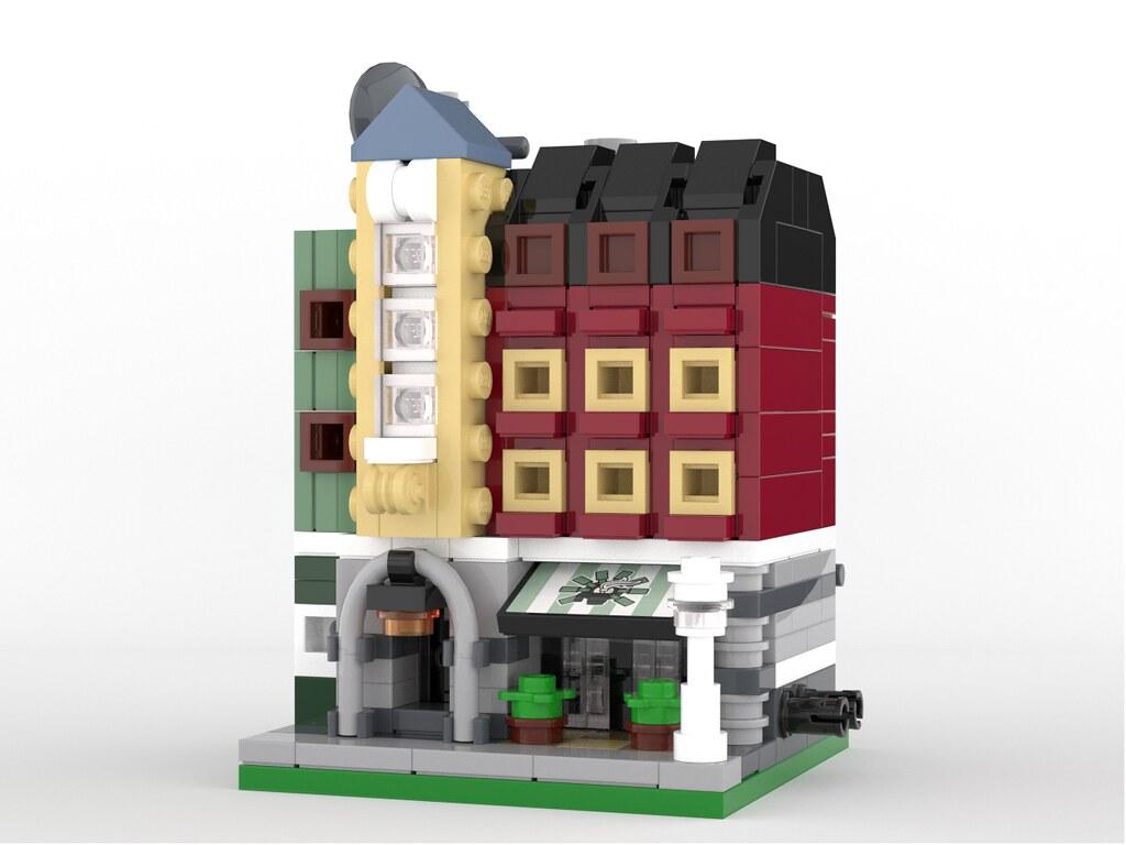Erling's Café – Mini Modular (custom built Lego model)