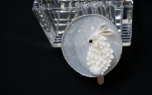 Rabbit in the Moon (Tsuki no Usagi) Hair Ornament