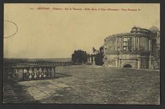 Grignan. - Château - Sur la Terrasse - Allée de la 2e cour d'honneur - Tour François Ier