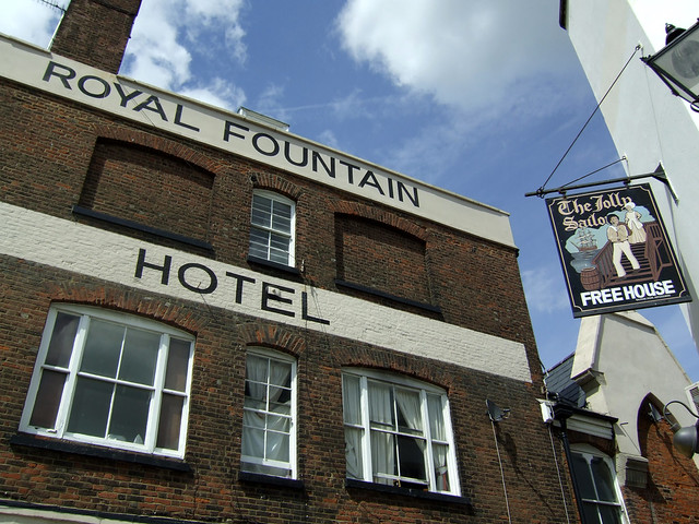 The former Royal Fountain Hotel