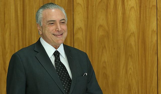Michel Temer fue grabado dando su aval al pago de sobornos para comprar el silencio del expresidente de la Cámara de Diputados.  - Créditos: Lula Marques / AGPT