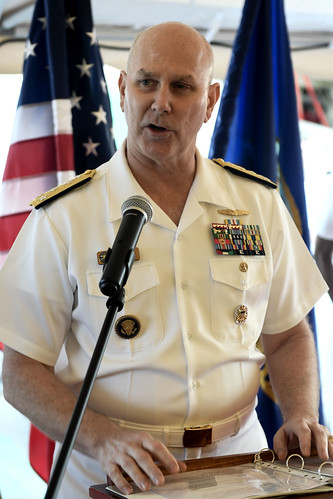 Tue, 05/16/2017 - 14:36 - 170516-N-AX546-385 VARNA, Bulgaria (May 16, 2017) - Vice Adm. Christopher W. Grady, commander, U.S. 6th Fleet, addresses Bulgarian military and civilian visitors during a reception aboard the Arleigh Burke-class guided-missile destroyer USS Oscar Austin, May 16, 2017.  Oscar Austin is on a routine deployment supporting U.S. national security interests in Europe, and increasing theater security cooperation and forward naval presence in the U.S. 6th Fleet area of operations. (U.S. Navy photo by Mass Communication Specialist 1st Class Sean Spratt / Released)