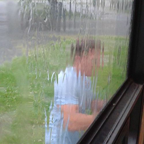 When Michael decides to use the pouring #rain to wash the camper.