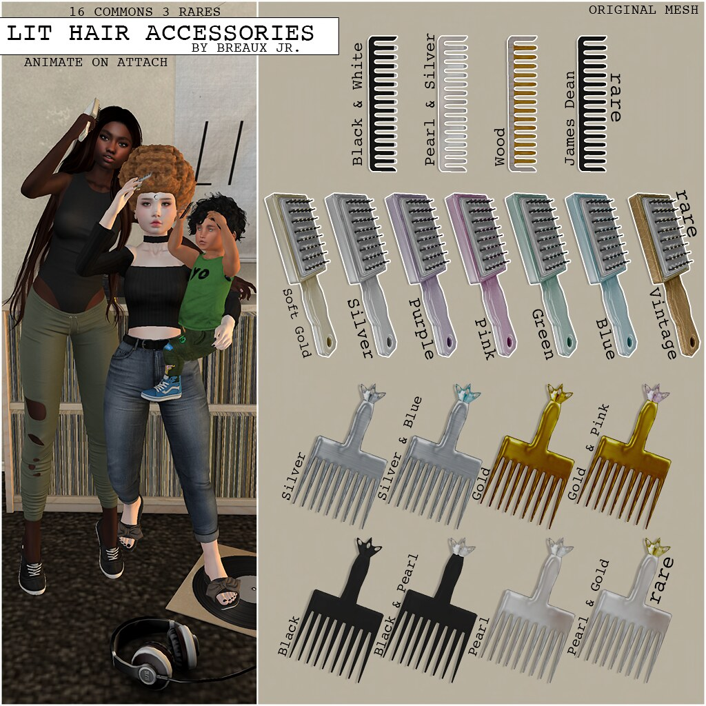 Lit Hair Accessories Gacha Ad - SecondLifeHub.com