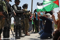 Solidarity protest with Palestinian prisoners, Nabi Saleh, West Bank, 12.5.2017