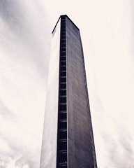Low Angle View Architecture Built Structure Tall - High Sky Modern Skyscraper Building Exterior Day No People Travel Destinations Outdoors City Monochrome