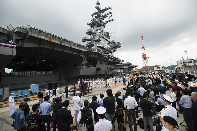 Japan 2015 -   USS Ronald Reagan Arrives in Japan to Support Security, Stability in the Indo-Asia-Pacific Region