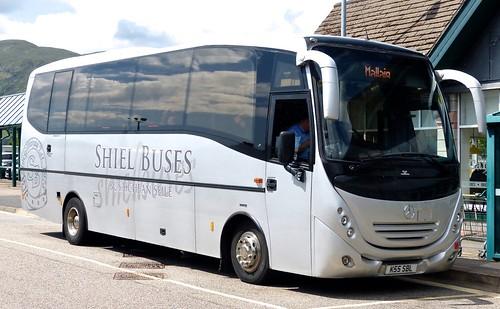 K55 SBL 'Shiel Buses' Mercedes-Benz 1523LL / Esker on 'Dennis Basford's railsroadsrunways.blogspot.co.uk'