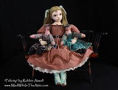 """Felicity"" A handmade doll by Robbin Atwell"