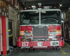 FDNY Engine 157 Fire Truck, Port Richmond, New York City