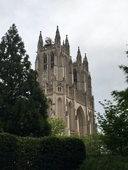 West towers of National Cathedral from Wisconsin Avenue NW, Washington, D.C.